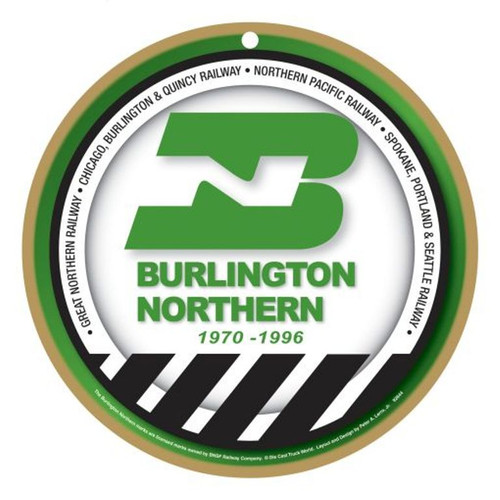 Burlington Northern Wooden Plaque