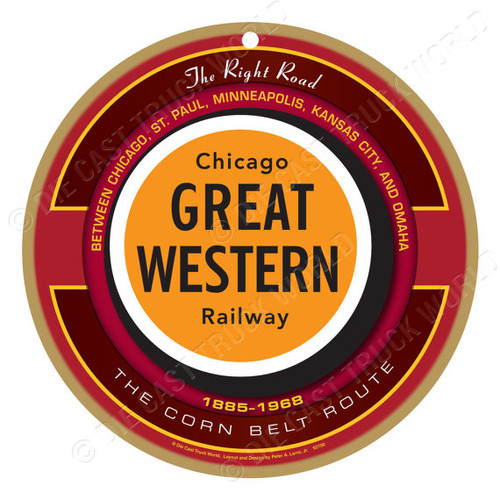 Chicago Great Western Railway Wooden Plaque