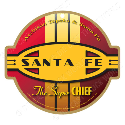 Santa Fe (Red & Yellow) Wooden Plaque