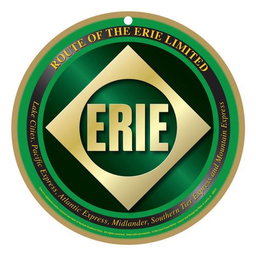 Erie Railroad Wooden Plaque