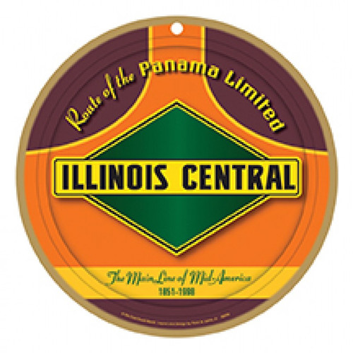 Illinois Central Wooden Plaque
