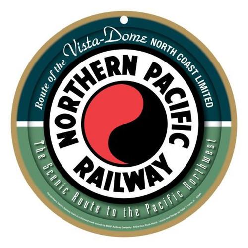 Northern Pacific Railway Wooden Plaque