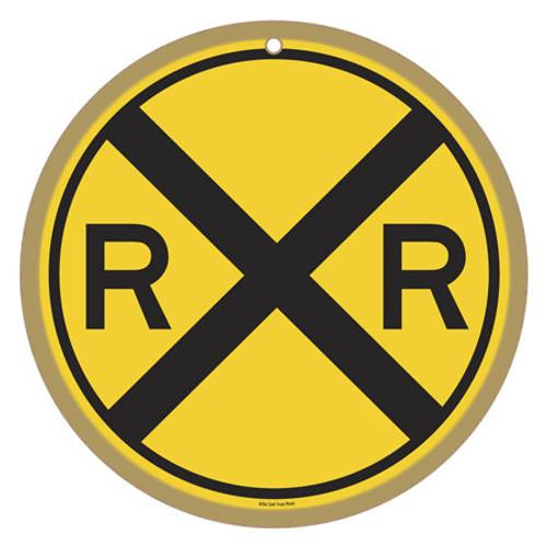Railroad Crossing (RXR) Wooden Plaque