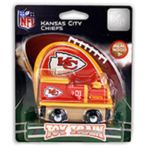 NFL Kansas City Chiefs Wooden Train