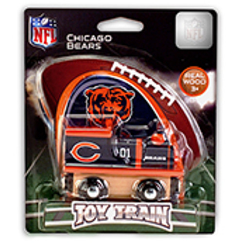 NFL Chicago Bears Wooden Train