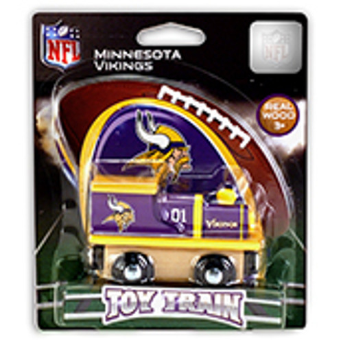 NFL Minnesota Vikings Wooden Train