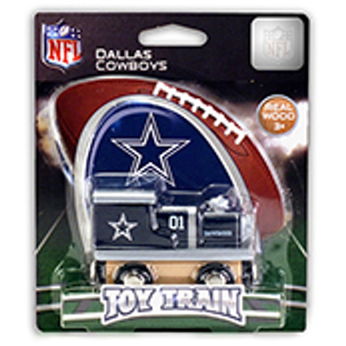 NFL Dallas Cowboys Wooden Train