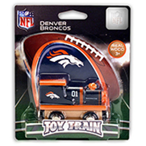 NFL Denver Broncos Wooden Train
