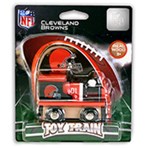 NFL Cleveland Browns Wooden Train