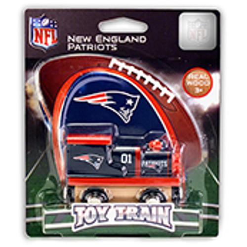 NFL New England Patriots Wooden Train
