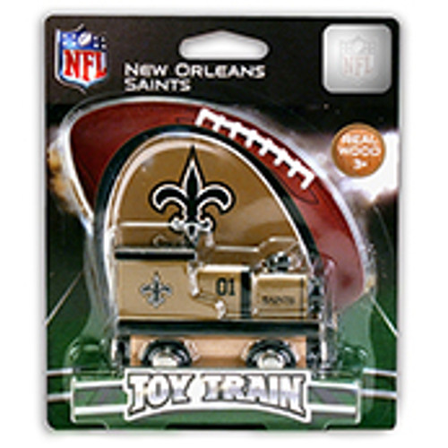 NFL New Orleans Saints Wooden Train