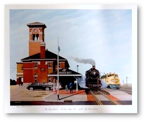 """The Glory Years"" At Green Bay, Wis. - 1946 Print by Russ Porter"