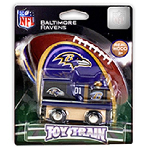 NFL Baltimore Ravens Wooden Train