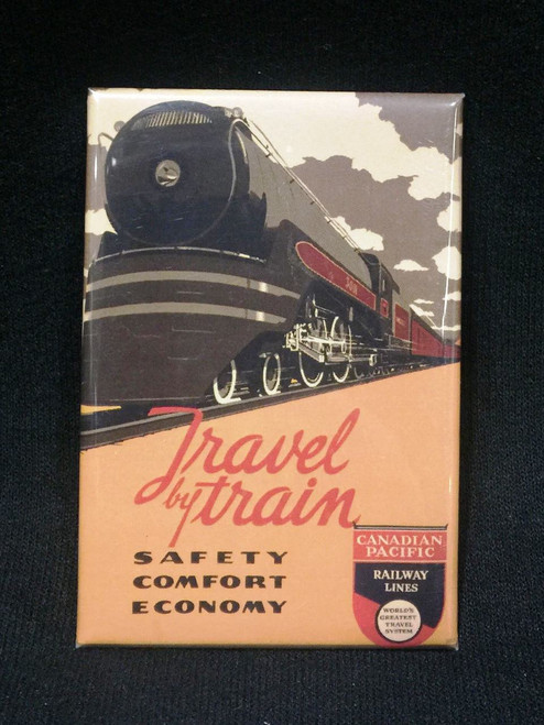 "Canadian Pacific (CP) ""Travel By Train"" Magnet"