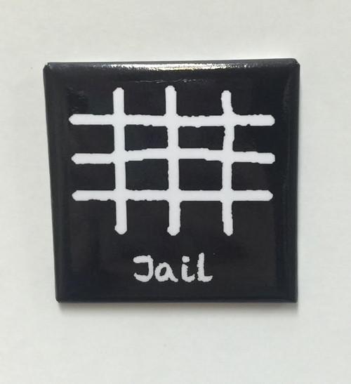 """Hobo Symbol Magnet: """"Jail"""""""
