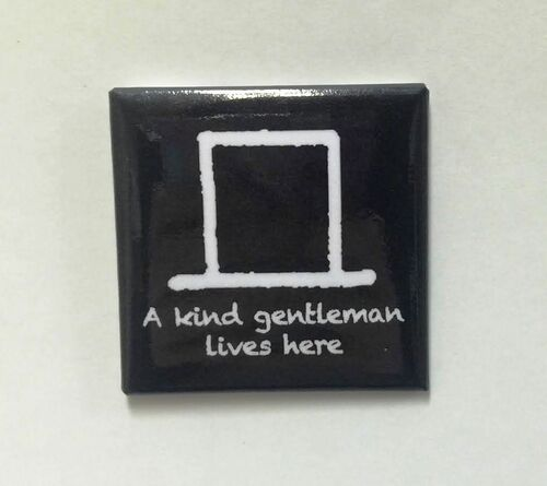 "Hobo Symbol Magnet: ""A Kind Gentleman Lives Here"""