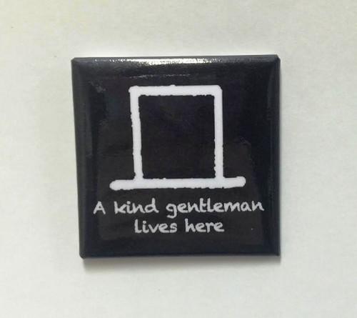 """Hobo Symbol Magnet: """"A Kind Gentleman Lives Here"""""""