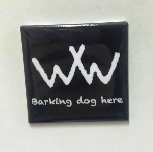 "Hobo Symbol Magnet: ""Barking Dog Here"""