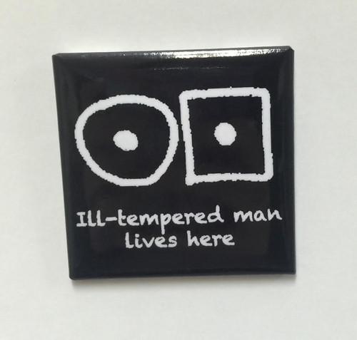 "Hobo Symbol Magnet: ""Ill-tempered Man Lives Here"""
