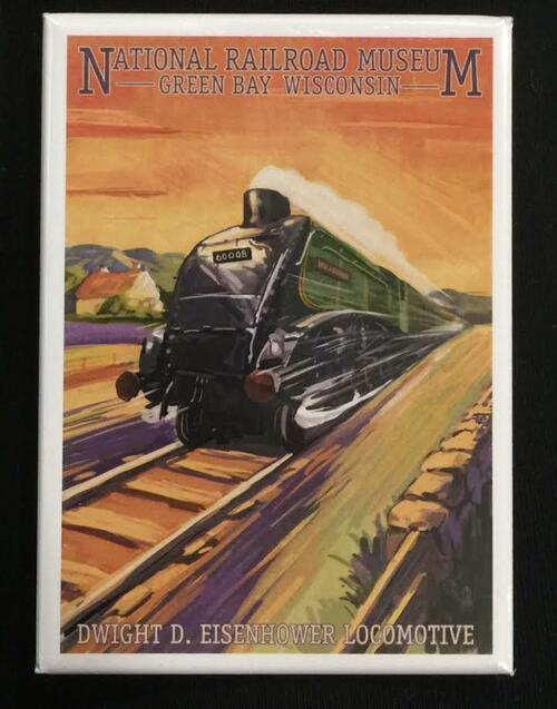 Dwight D. Eisenhower Locomotive Artwork Magnet