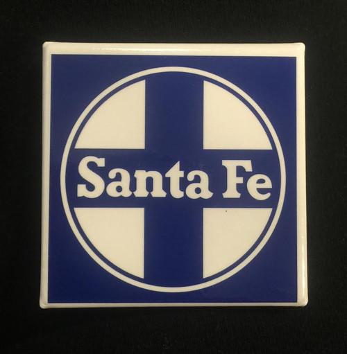 Santa Fe Magnet (Blue & White Logo)