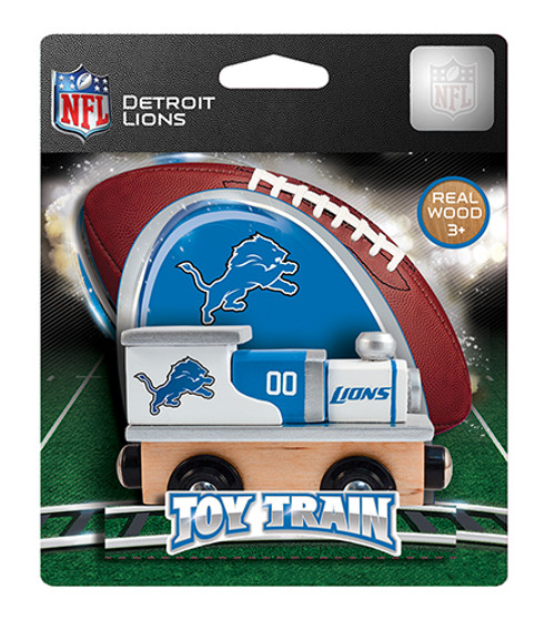 NFL Detroit Lions Wooden Train