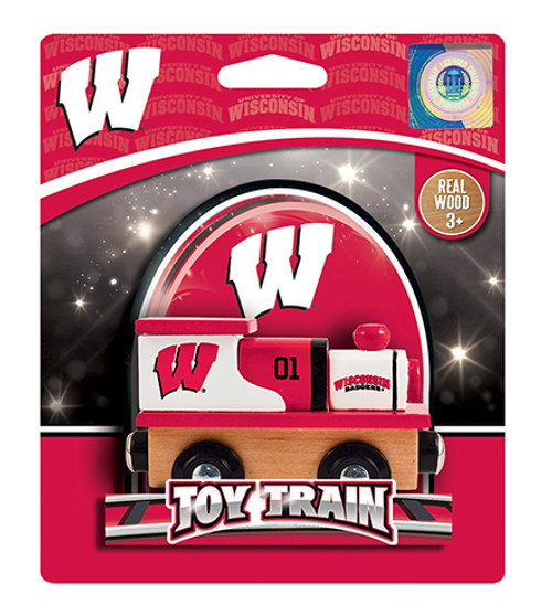 Wisconsin Badgers Wooden Train