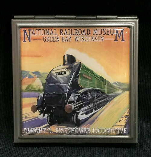 Dwight D. Eisenhower Locomotive Artwork Pocket Mirror
