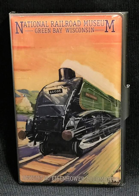 Dwight D. Eisenhower Locomotive Artwork Card Case