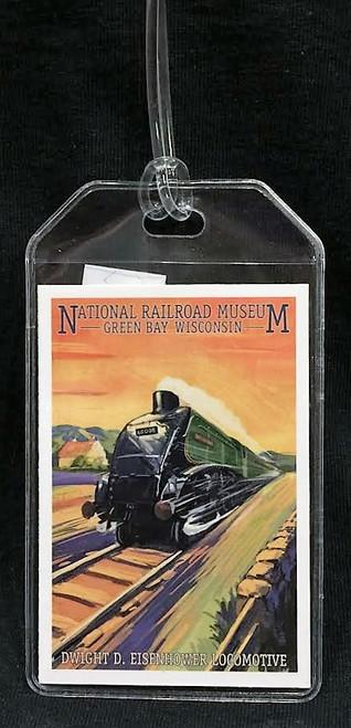 Dwight D. Eisenhower Locomotive Artwork Luggage Tag