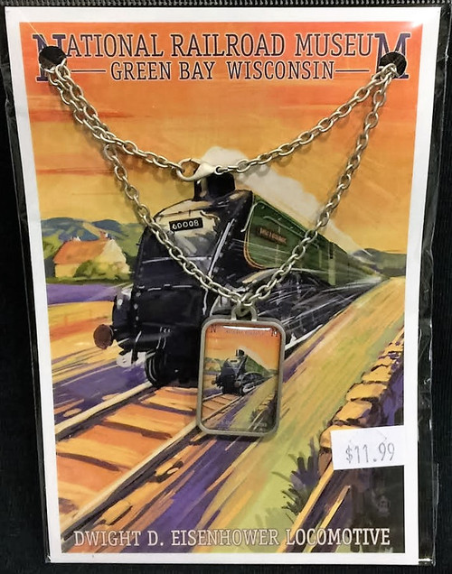 Dwight D. Eisenhower Locomotive Artwork Necklace
