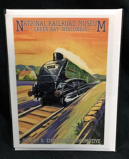 Dwight D. Eisenhower Locomotive Artwork Card