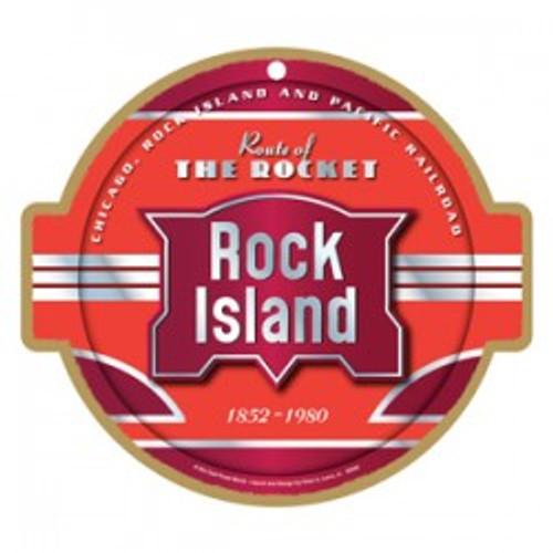 Rock Island Wooden Plaque
