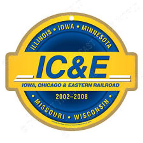 Iowa, Chicago & Eastern Railroad (IC&E) Wooden Plaque
