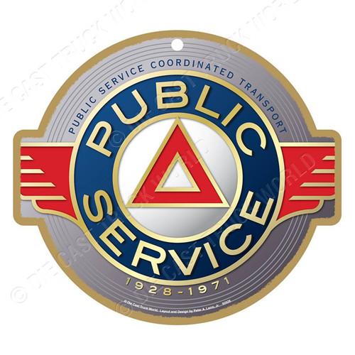 Public Service Railway Wooden Plaque