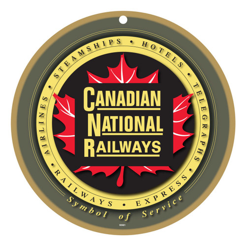 Canadian National Railways (CN) Maple Leaf Wooden Plaque