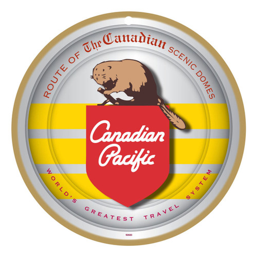 Canadian Pacific (CP) Beaver Logo Wooden Plaque