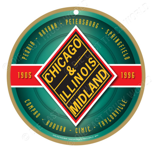 Chicago & Illinois Midland Wooden Plaque