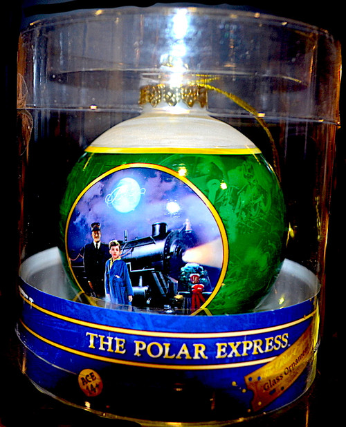 The Polar Express™ 80mm Green Glass Ball Ornament