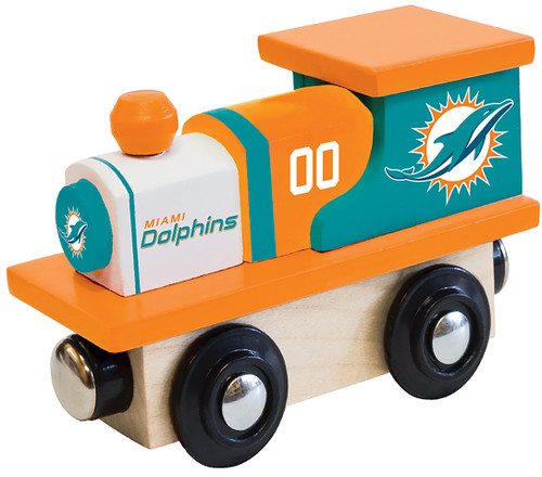 NFL Miami Dolphins Wooden Train