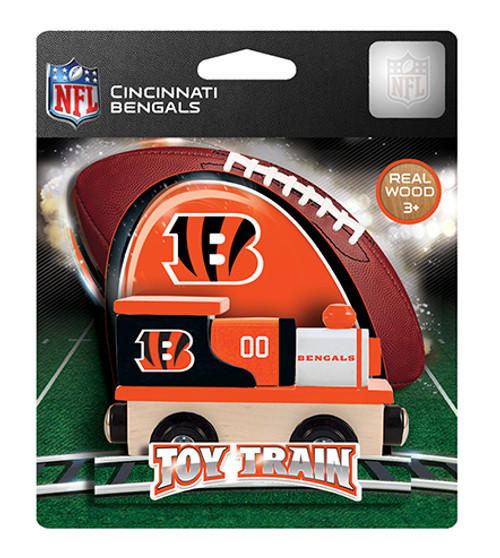NFL Cincinnati Bengals Wooden Train
