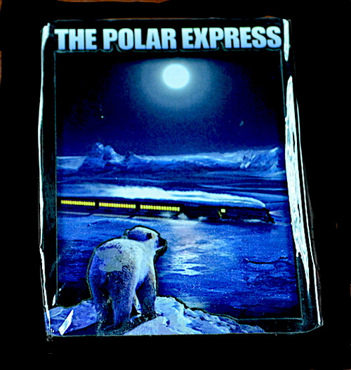 The Polar Express™ Magnet - Polar Bear Looking At Train