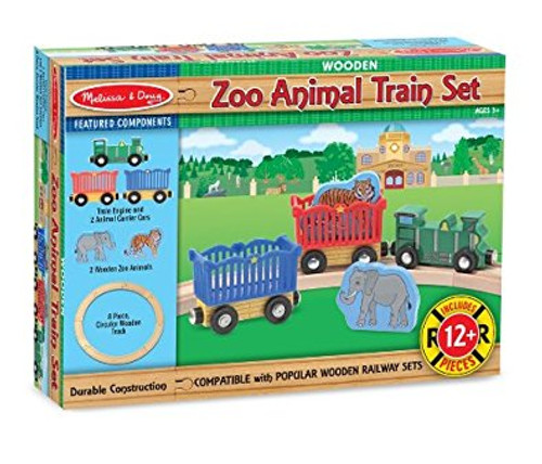Melissa & Doug® Children's Zoo Animal Train Set