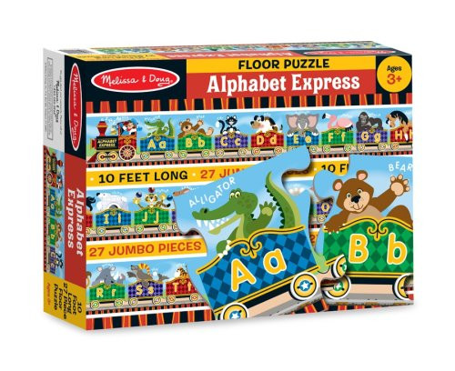 Melissa & Doug® Alphabet Express Jumbo Jigsaw Floor Puzzle (27 pieces, 10 feet long)