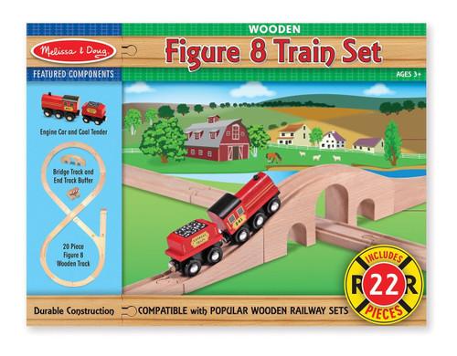 Melissa & Doug® Classic Wooden Figure 8 Train Set (22 pieces)