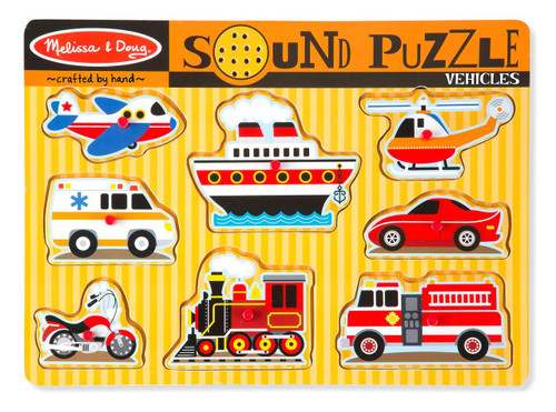 Melissa & Doug® Vehicles Sound Puzzle (8 Pieces)