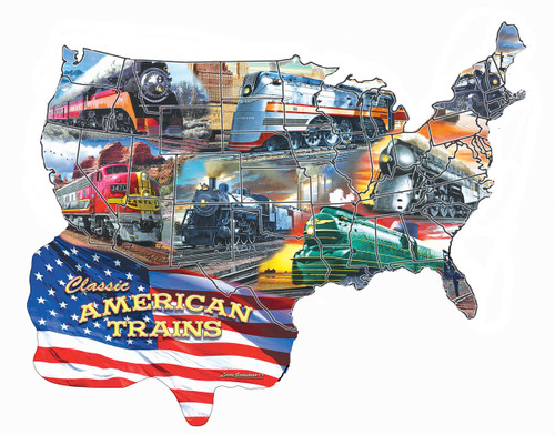 Classic American Trains 600-Piece Puzzle by SunsOut