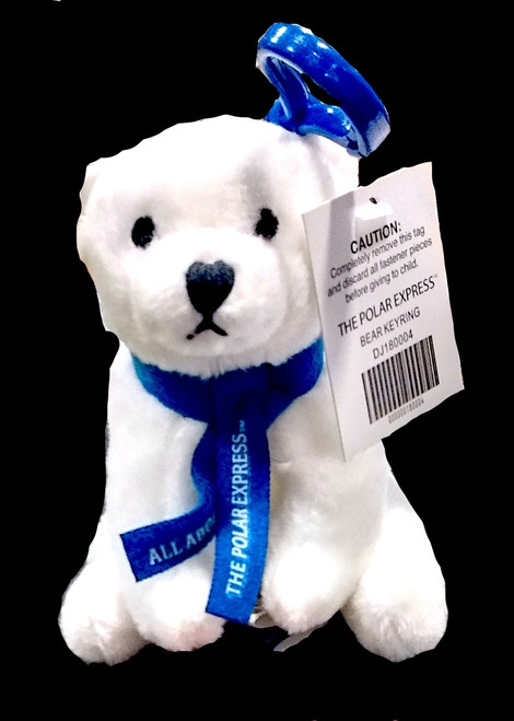The Polar Express™ Polar Bear Key Ring - Blue Scarf