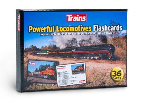 Trains® Powerful Locomotives Flashcards