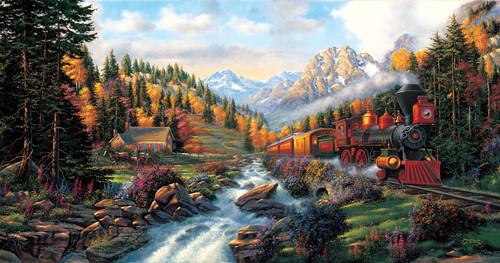 Autumn Run 500-Piece Puzzle by SunsOut